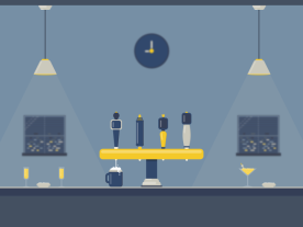 animated bar scene